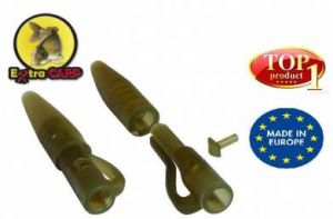 LEAD CLIP WITH TAIL RUBBER EXTRA CARP - 10KS
